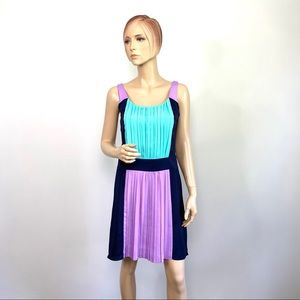 Betsey Johnson Colorblock Pleated Dress 2